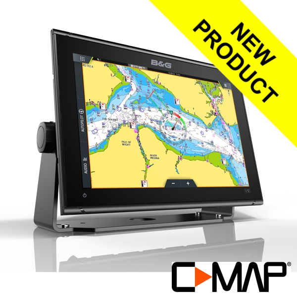 B&G Vulcan 12 12 Inch Display with Radar Compatibility - No Transducer - With C-Map MAX-N Charts Europe (South)