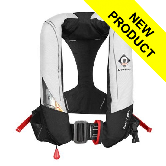 Crewsaver Crewfit 180N Pro - Automatic - White/Red with Internal Light
