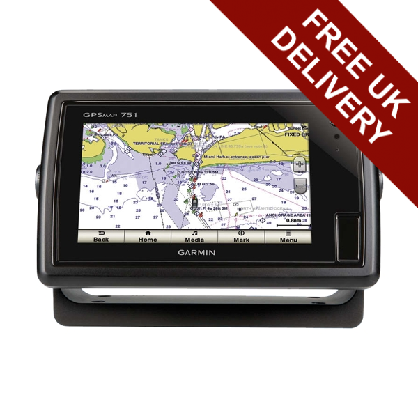 GARMIN GPSMAP 751 Dual Touch 7 Inch Plotter With UK & Ireland Charts