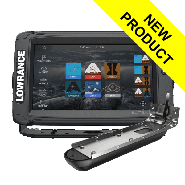 Lowrance Elite-9 Ti2 With Active Imaging 3-in-1 Transom Mounted Transducer