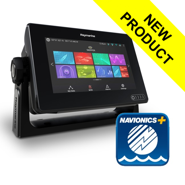 Raymarine Axiom 7 DV - 7 Inch MFD With DownVision 600W Sounder (No TR) & Navionics+ Small Download Chart