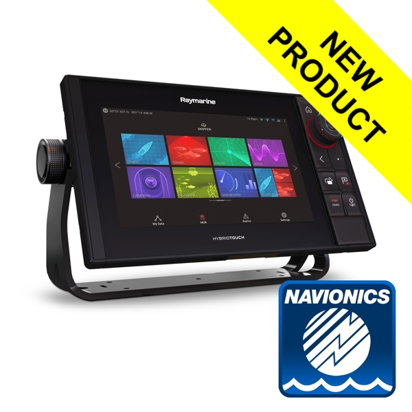Raymarine Axiom 9 Pro-RVX HybridTouch 9 Inch MFD with intergrated 1kW Sonar. DV.SV and RV 3D sonar cw Nav+ Small DL
