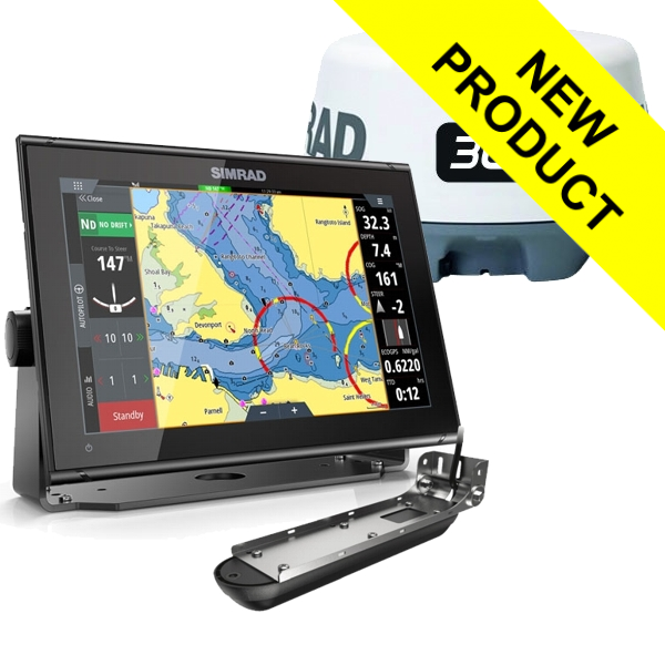 Simrad GO12 XSE With Active Imaging 3 in 1 Transducer and 3G Radar Scanner