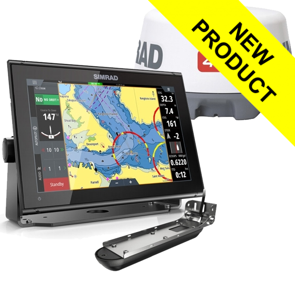 Simrad GO12 XSE With Active Imaging 3 in 1 Transducer and 4G Radar Scanner