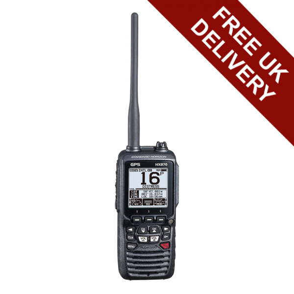 Standard Horizon HX870E Handheld DSC VHF with GPS and Route Navigation