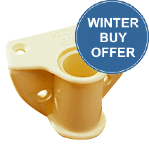Trem Rowlock Socket Side Connection Colour Ivory - Hole 18mm