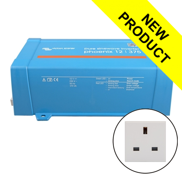 Victron Phoenix Sine Wave Inverter 12V 375VA With UK Plug