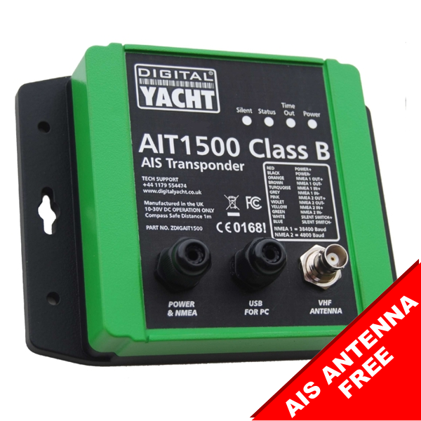 Digital Yacht AIT1500 Class B AIS Transponder With Int GPS Ant (NMEA 0183)