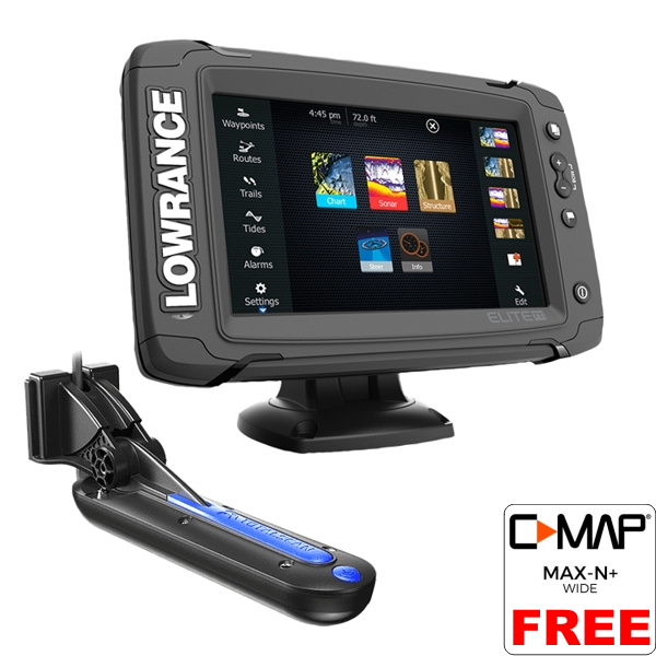 Lowrance Elite-7 Ti Fishfinder / Chart Plotter With Mid/High / TotalScan TM Transducer