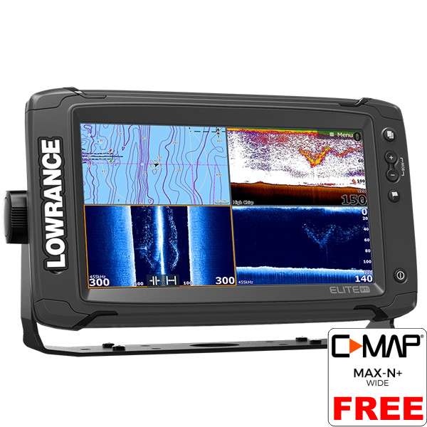 Lowrance Elite-9 Ti Fishfinder/Chartplotter with No Transducer