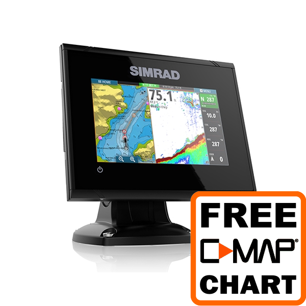 Simrad GO5 5 Inch Plotter / Sounder With NO Transducer Supplied