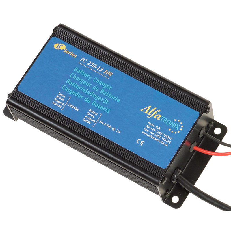 Alfatronix Ic 230-12 108 Ac-dc Intelligent Battery Charger - 230vac To 12vdc - 7a / 108w