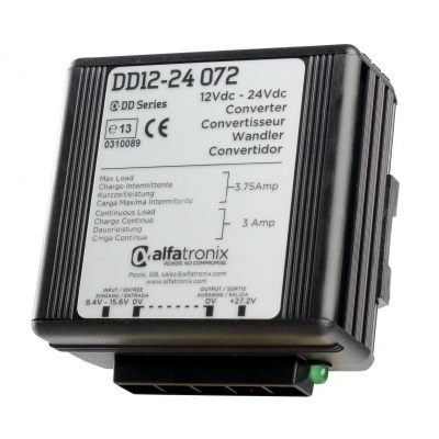 Alfatronix Ddi12-12 072 Converter Dc To Dc Multi Selection - 12vdc To 12vdc 6a Continuous 8a Intermittent