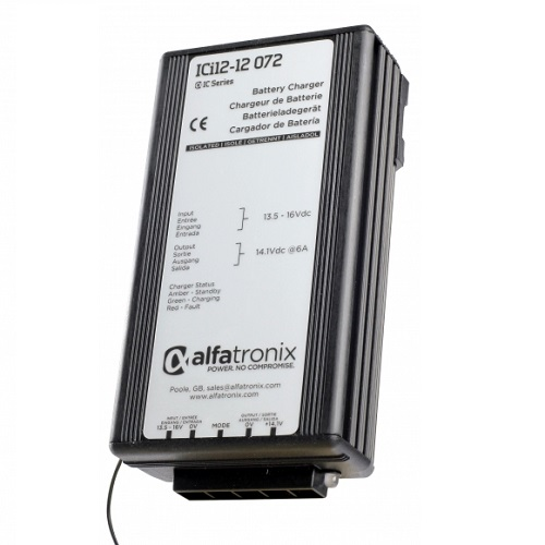 Alfatronix Ici12-12-072 Dc-dc Intelligent Battery Charger - 12vdc To 12vdc - 6a
