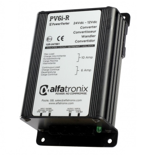 Alfatronix Pv6i-ru 24vdc To 12vdc Converter - Isolated Input To Output - 6a Continuous 10a Intermittent
