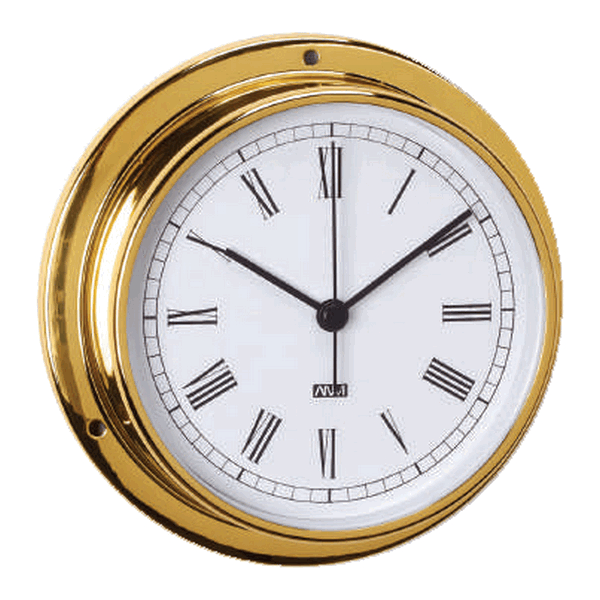 Aqua Marine Clock 95mm Face Brass Finish