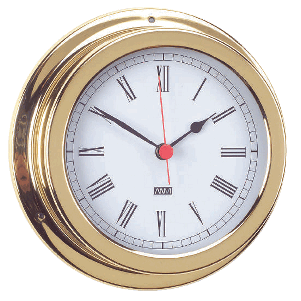 Aqua Marine Clock 120mm Face Brass Finish