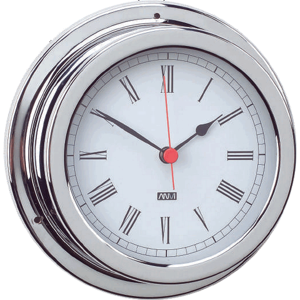 Aqua Marine Clock 120mm Face Chrome Finish