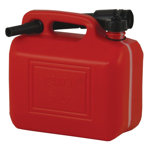 Plastic Fuel Jerry Can C/W Spout 5Ltr