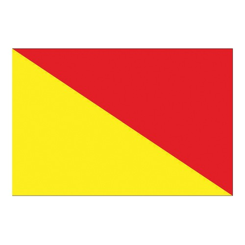 Flag International Code Signal O (30 x 45cm)