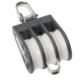 Barton Size 6 Ball Bearing Block Triple Swivel & Becket
