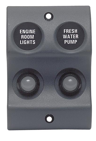 BEP W/proof Switch Panel Micro 2x10mm Led (900-SOP)