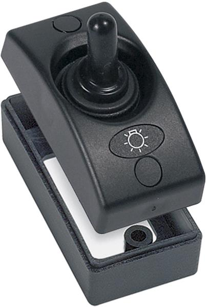BEP Contour Ext Switch 1100 Series Single 20a Blk (1100-BK-TS)