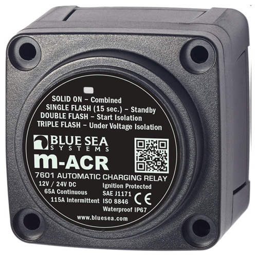 BlueSea Auto Charging Relay M Series 65A 12/24V