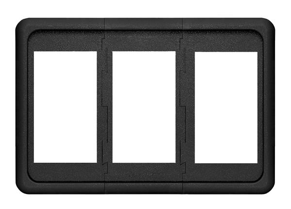 Blue Sea Contura 3 Pos Panel Black