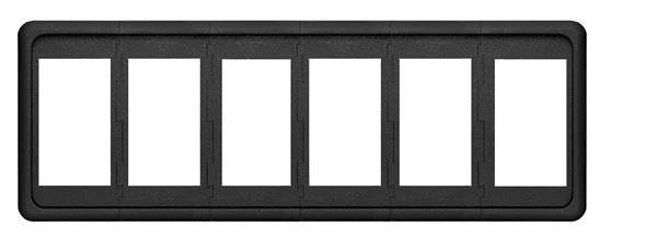 Blue Sea Contura 6 Pos Panel Black