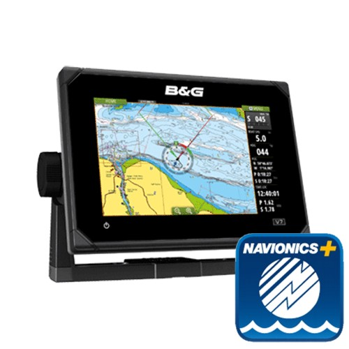 B&G Vulcan7 FS 7-Inch Multi-Touch Chartplotter with Built In Forward Looking Sonar With EMEA Navionics Plus Chart - No Transducer