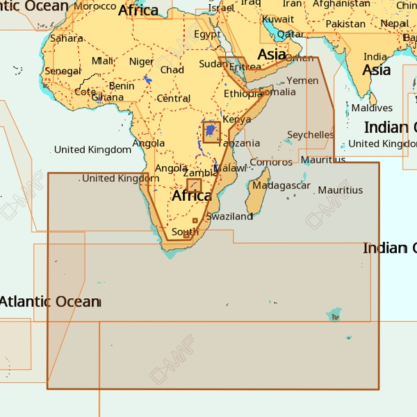 C-Map 4D Wide Area AF-D209 South - East Africa