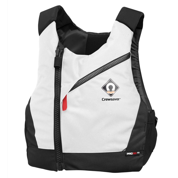 Crewsaver PRO 50N CZ Central Zip Buoyancy Aid in White - XXL