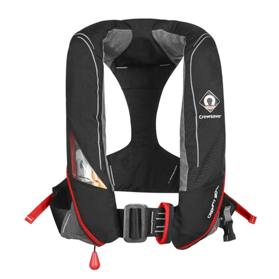 Crewsaver Crewfit 180N Pro - Manual - Black/Red with Internal Light