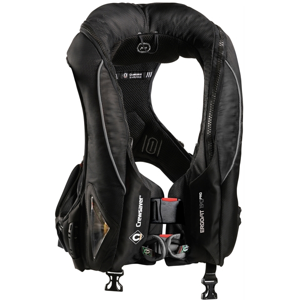 Crewsaver ErgoFit 190N Pro - Automatic With Harness - Light & Hood - Black