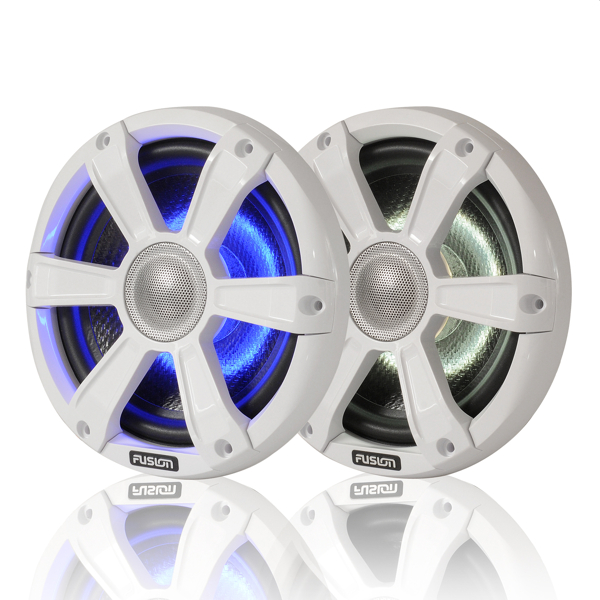 Fusion SG-FL77SPW 7.7 Inch Marine High Performance Loudspeaker with White Sport grill + LED