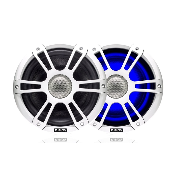 Fusion SG-CL77SPW 7.7Inch 280 Watt Coaxial Sports White Marine Speaker with LEDs