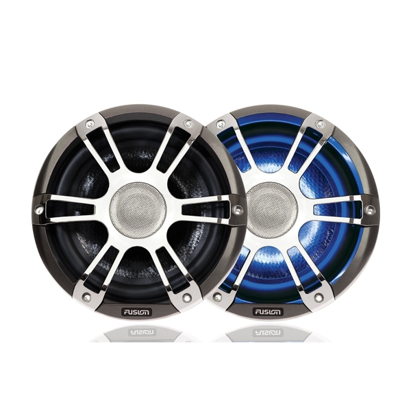 Fusion SG-CL77SPC 7.7 Inch 280 Watt Coaxial Sports Chrome Marine Speaker with LEDs