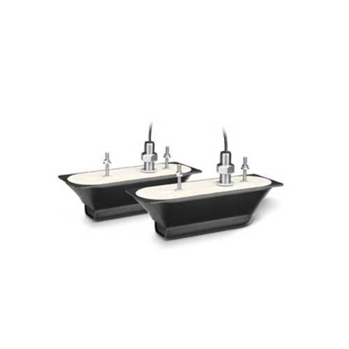 Garmin GT41-THP (PAIR) Thru-Hull Stainless DownVu - SideVu & Traditional 600w Transducer with Temp