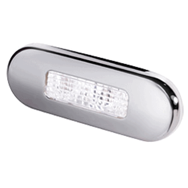 Hella LED Step Light White Stainless Steel Rim