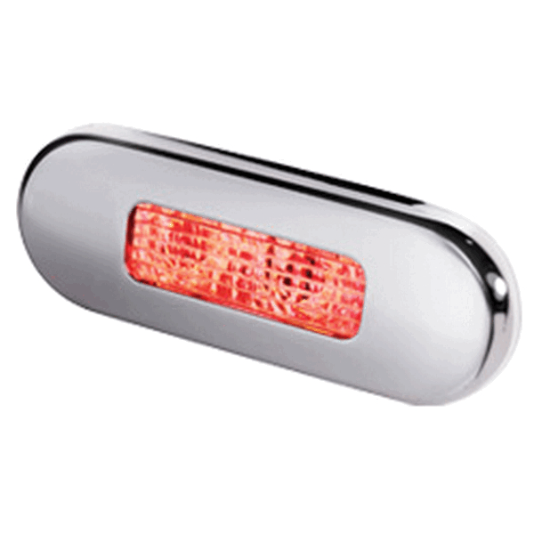 Hella LED Step Light Red Stainless Steel Rim