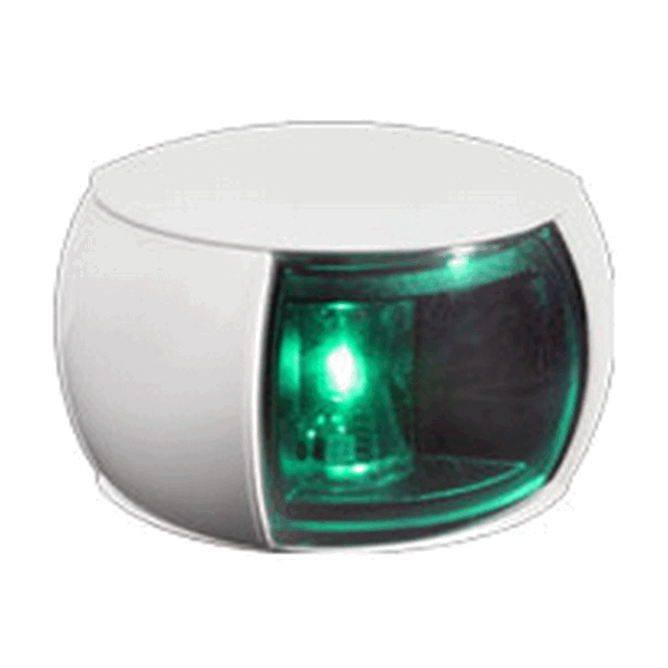 Hella 2NM Starboard Side Light White Shroud Coloured Lens