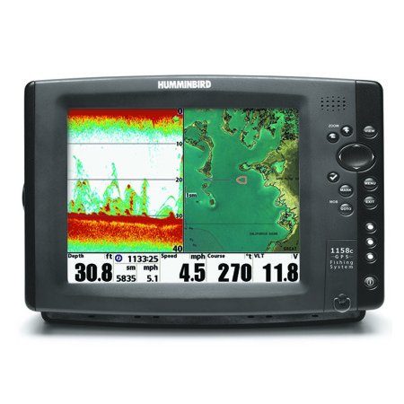 HUMMINBIRD 1158CX COMBO SOUNDER PLOTTER DISPLAY ONLY