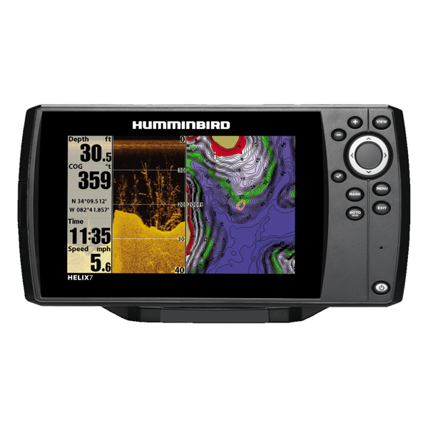 Humminbird HELIX 7 DI Combo - GPS / Plotter / Sonar - Col - Down Imaging - c/w Dual beam Txd - Temp / Speed - Int GPS