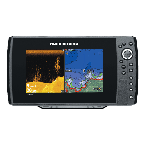 Humminbird HELIX 9 DI Combo - GPS / Plotter / Sonar - Col - Down Imaging - c/w Dual beam Txd - Temp / Speed - Int GPS