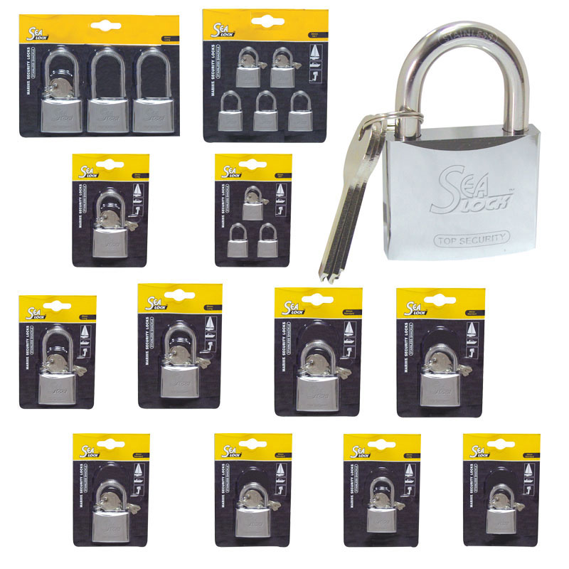 Marine Padlock. Sealock. W/long Shackle. 50mm