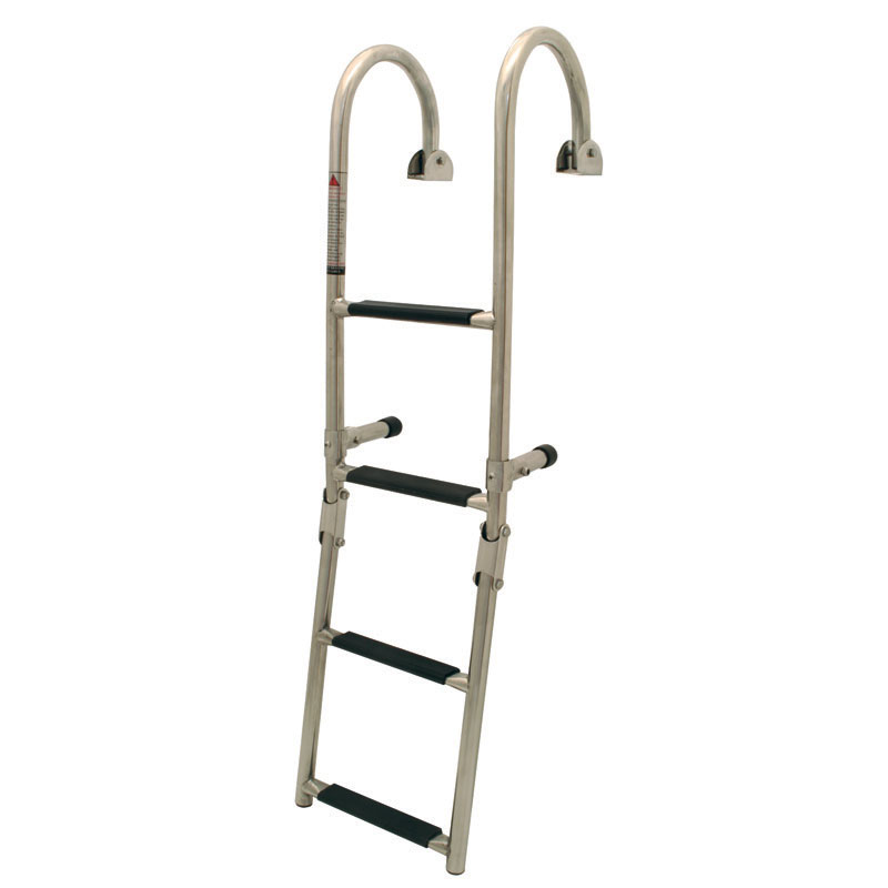 Folding Ladder. 1+2 Steps.  Inox 316. 250x645mm