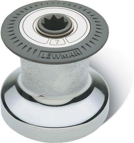 Lewmar Size 7 One Speed. Standard Winch Chrome