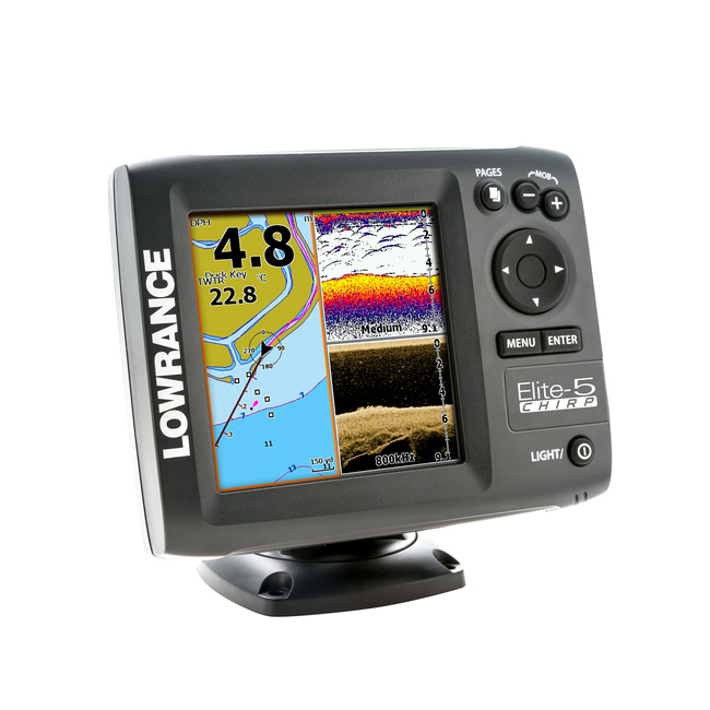 Lowrance ELITE-5 Chirp With 83/200 455/800 Skimmer Transducer