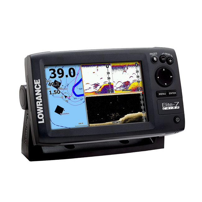 Lowrance ELITE-7 Chirp With 83/200 455/800 Skimmer Transducer